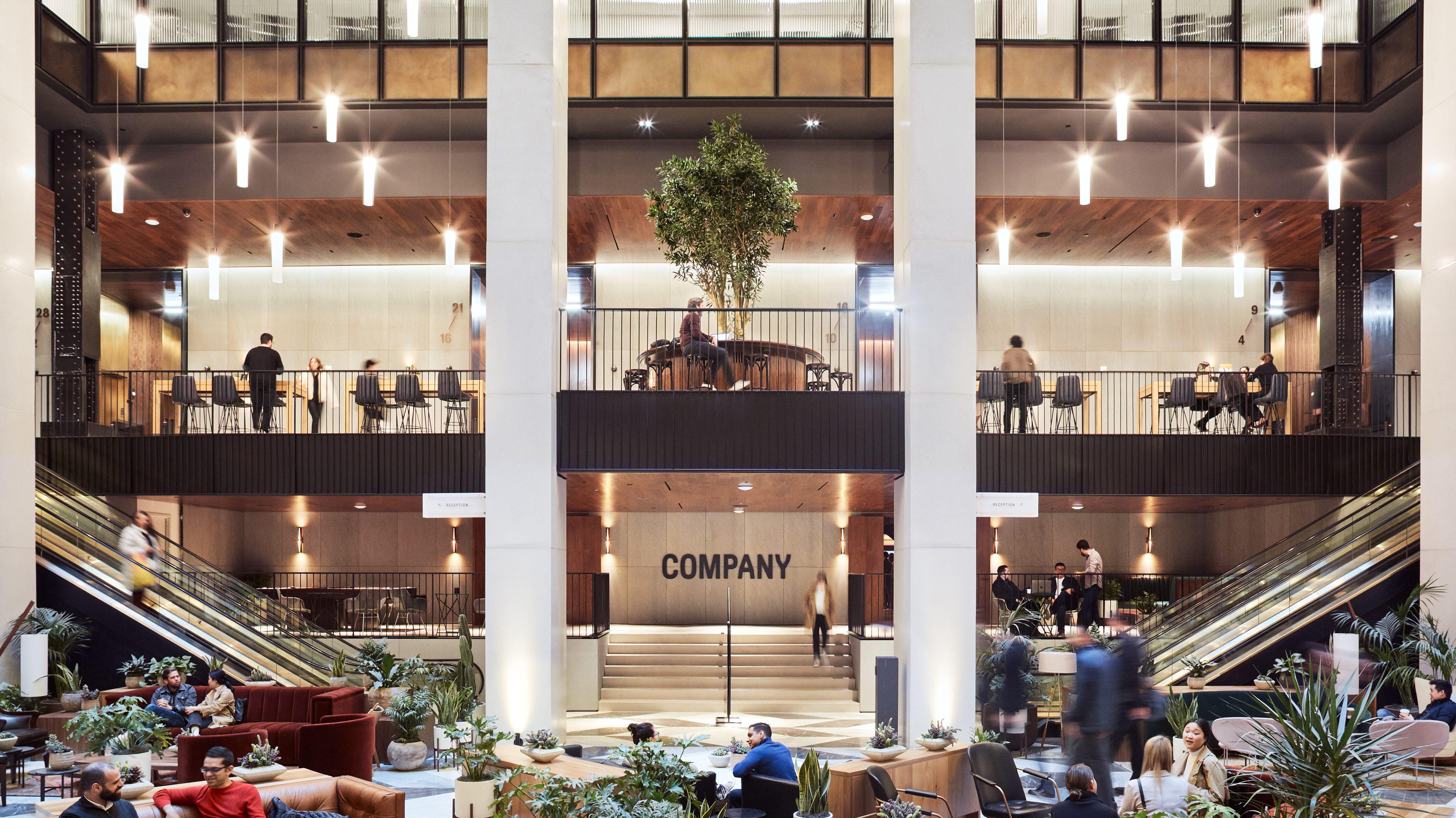 Company's lobby in New York City