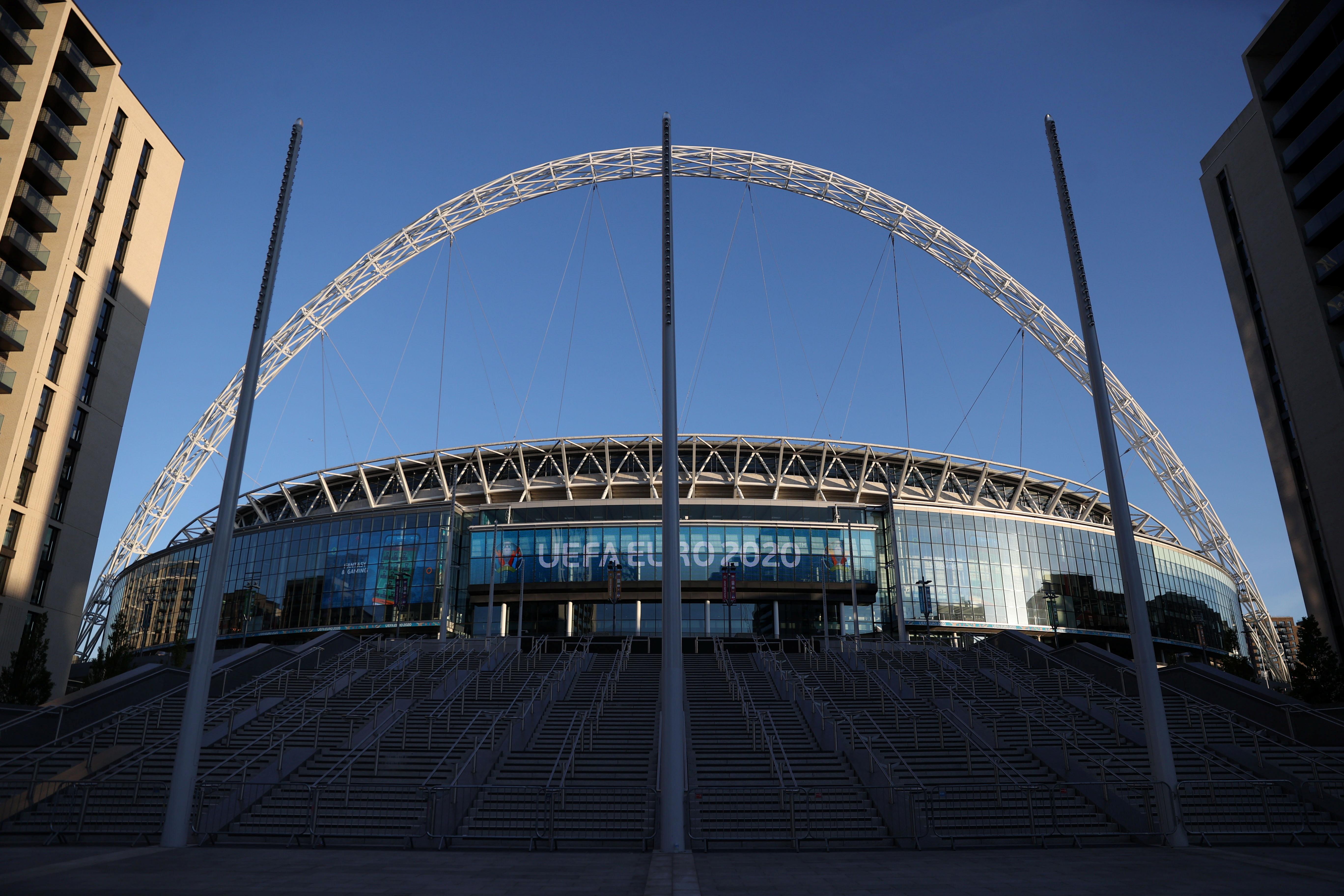 Wembley Stadium, London.