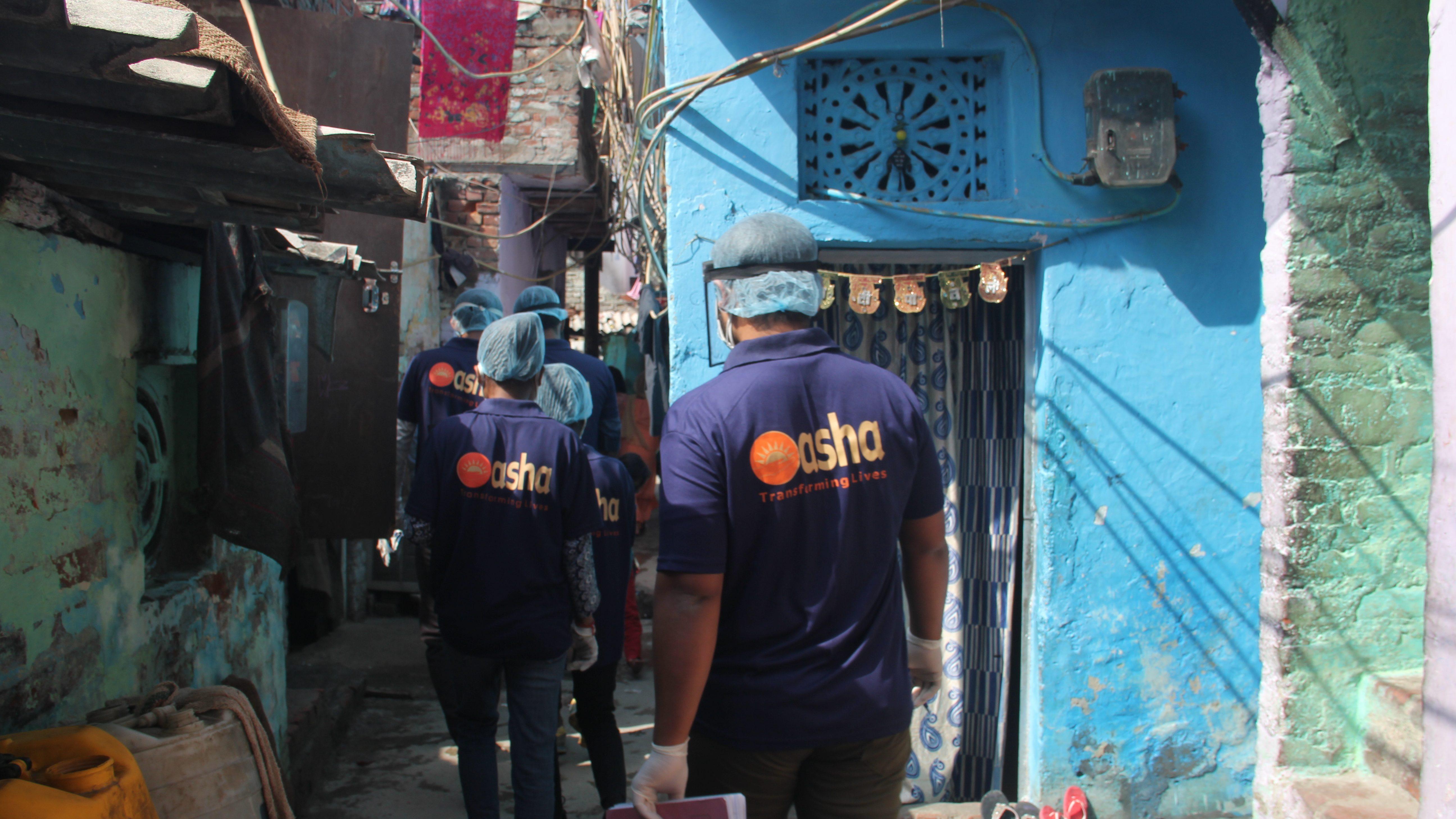 Asha warriors patrolling the slum lanes