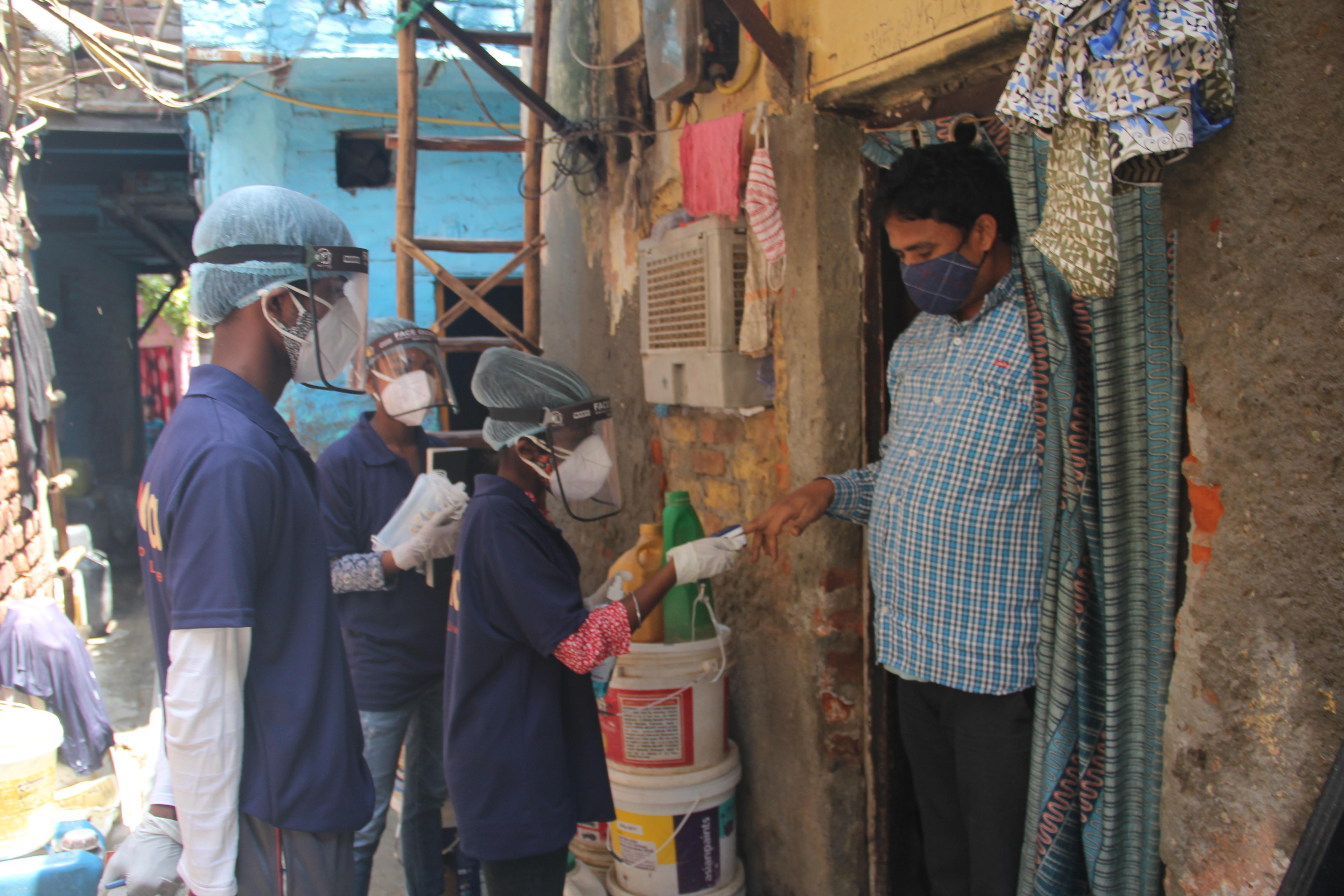 Guerreiros Asha testando o nível de oxigênio