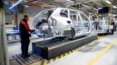 Inside view of a Volvo Cars factory