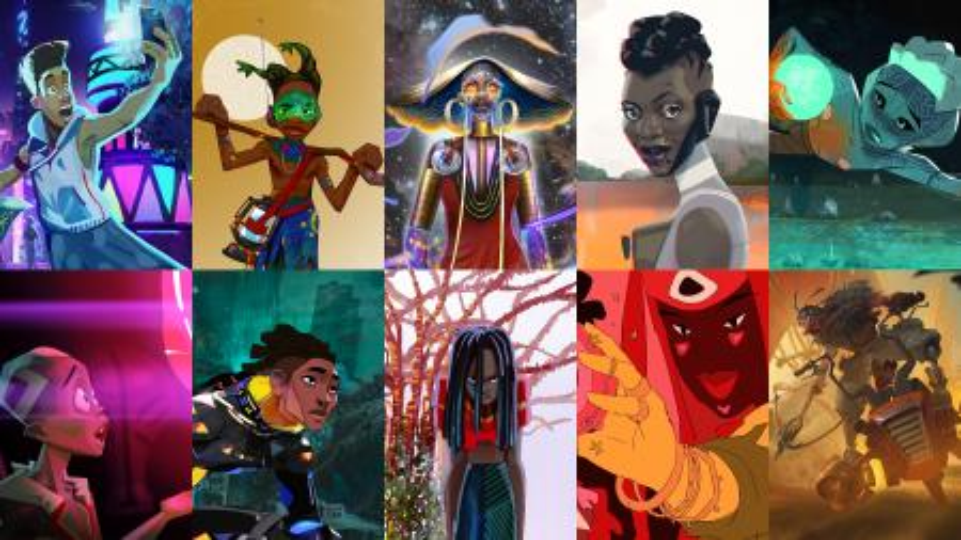 Characters from the 'Kizazi Moto: Generation Fire' animation project
