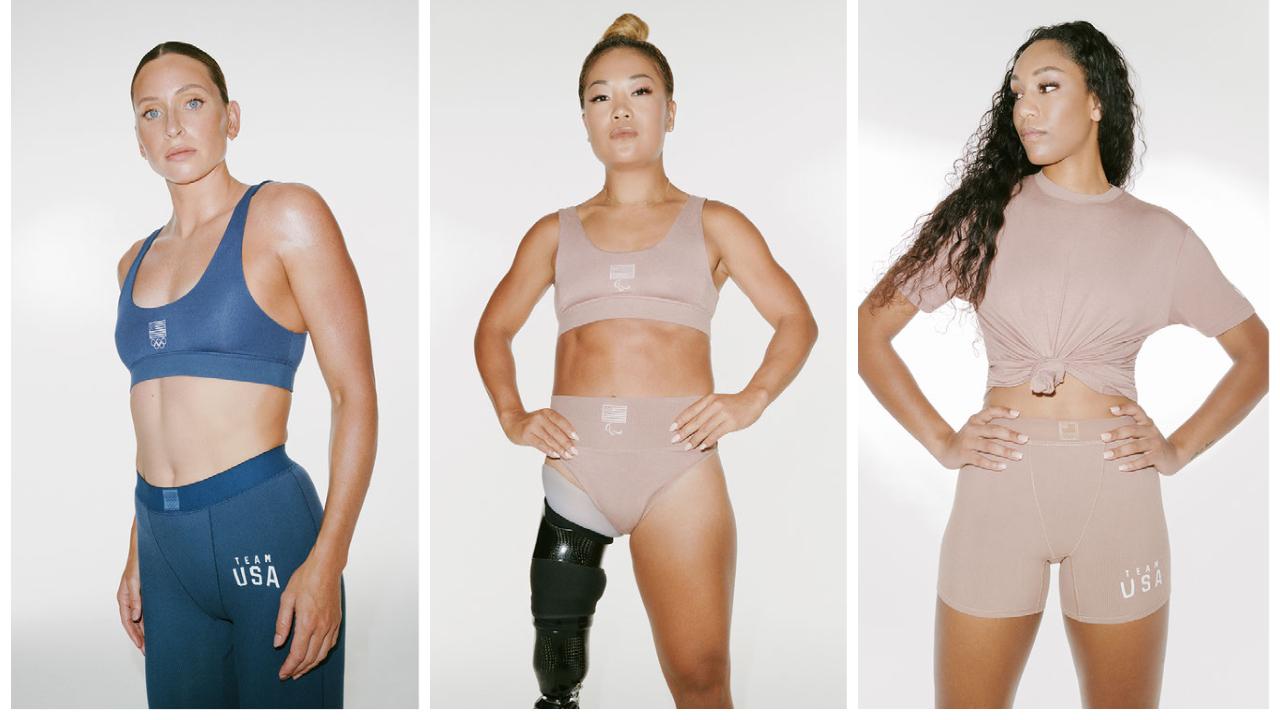 Imagens da campanha da coleção Skims Olympic