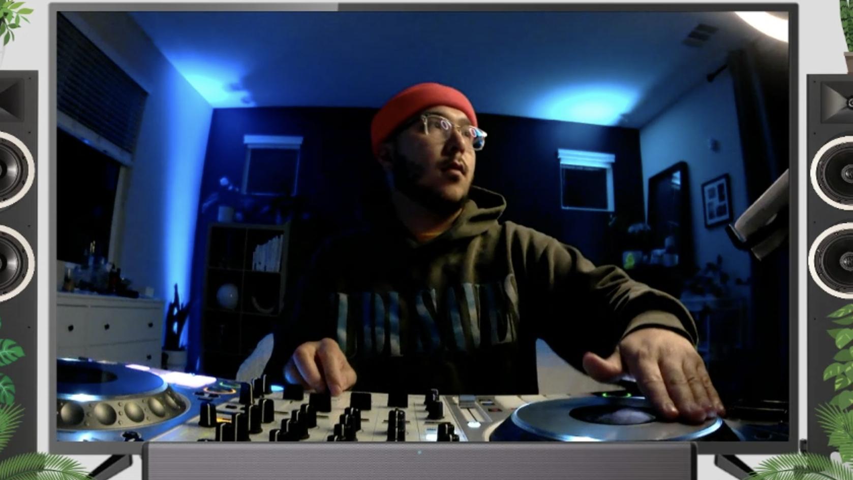 A HashiCorp employee DJs an employee hangout.