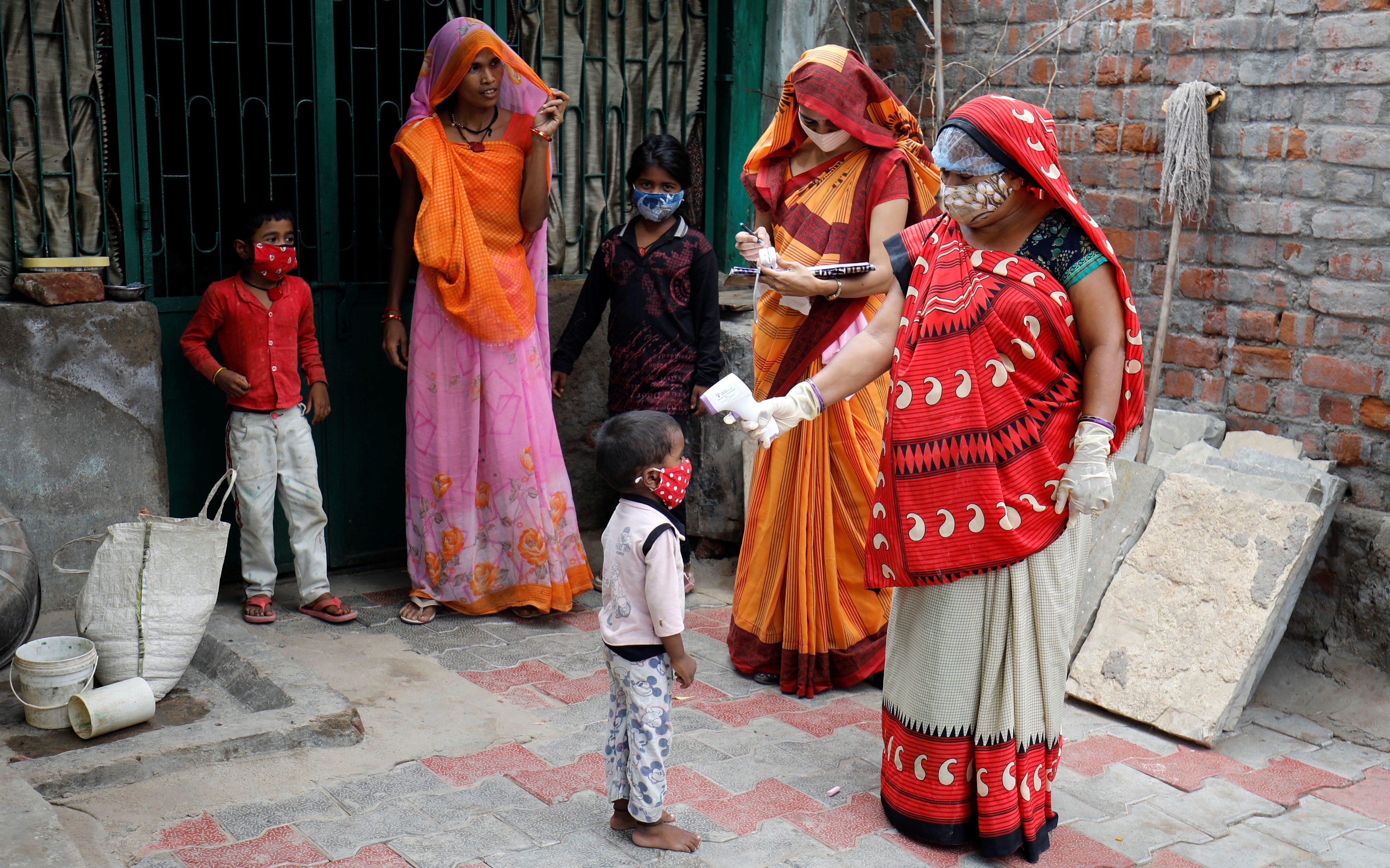 The spread of coronavirus disease on the outskirts of Ahmedabad