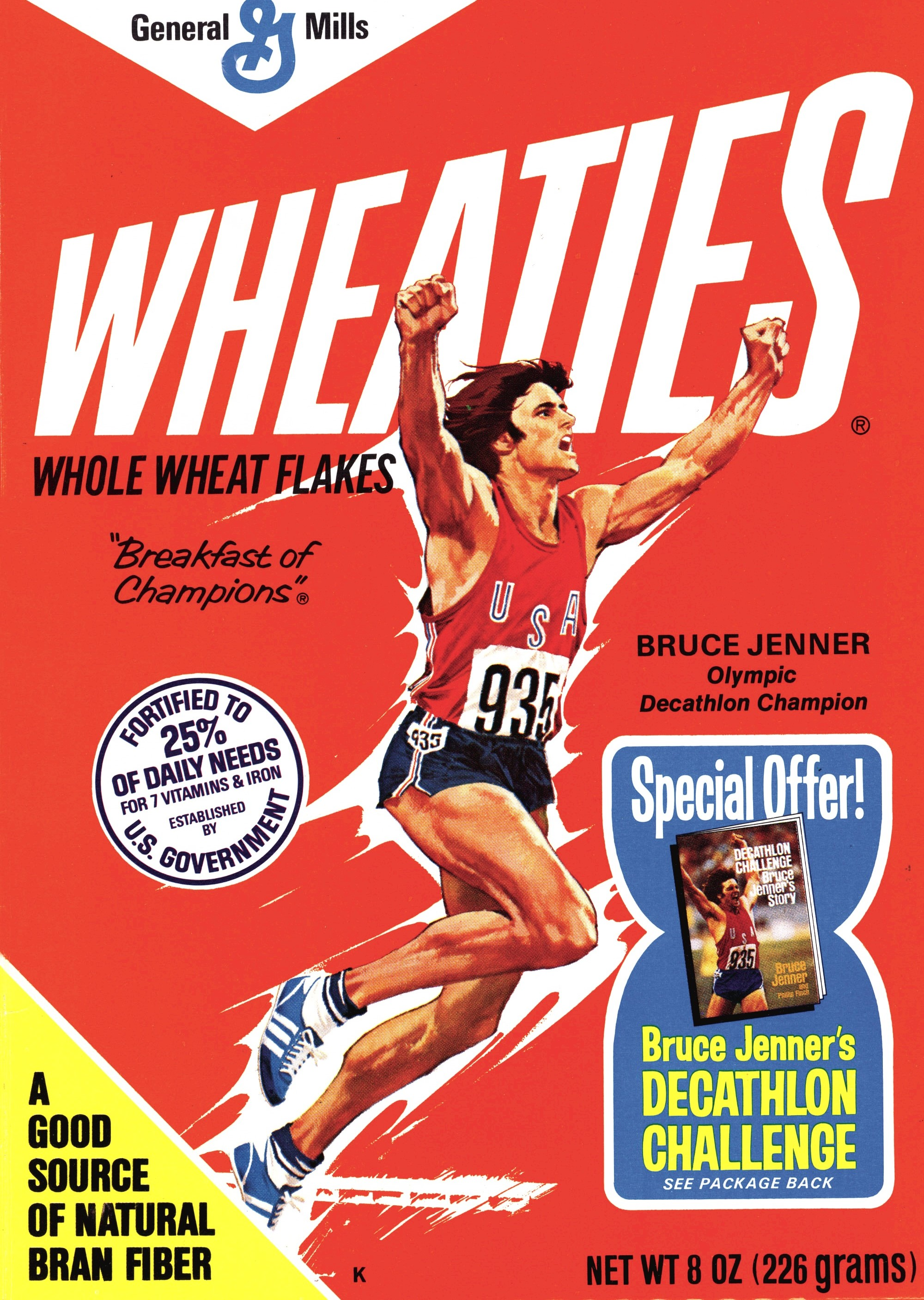 Bruce Jenner on the Wheaties box.