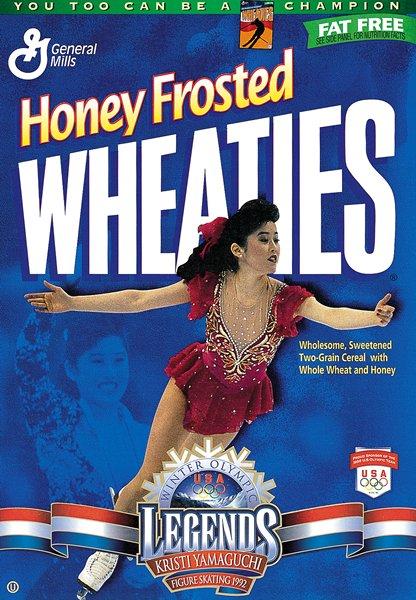 Kristi Yamaguchi on the Wheaties box.