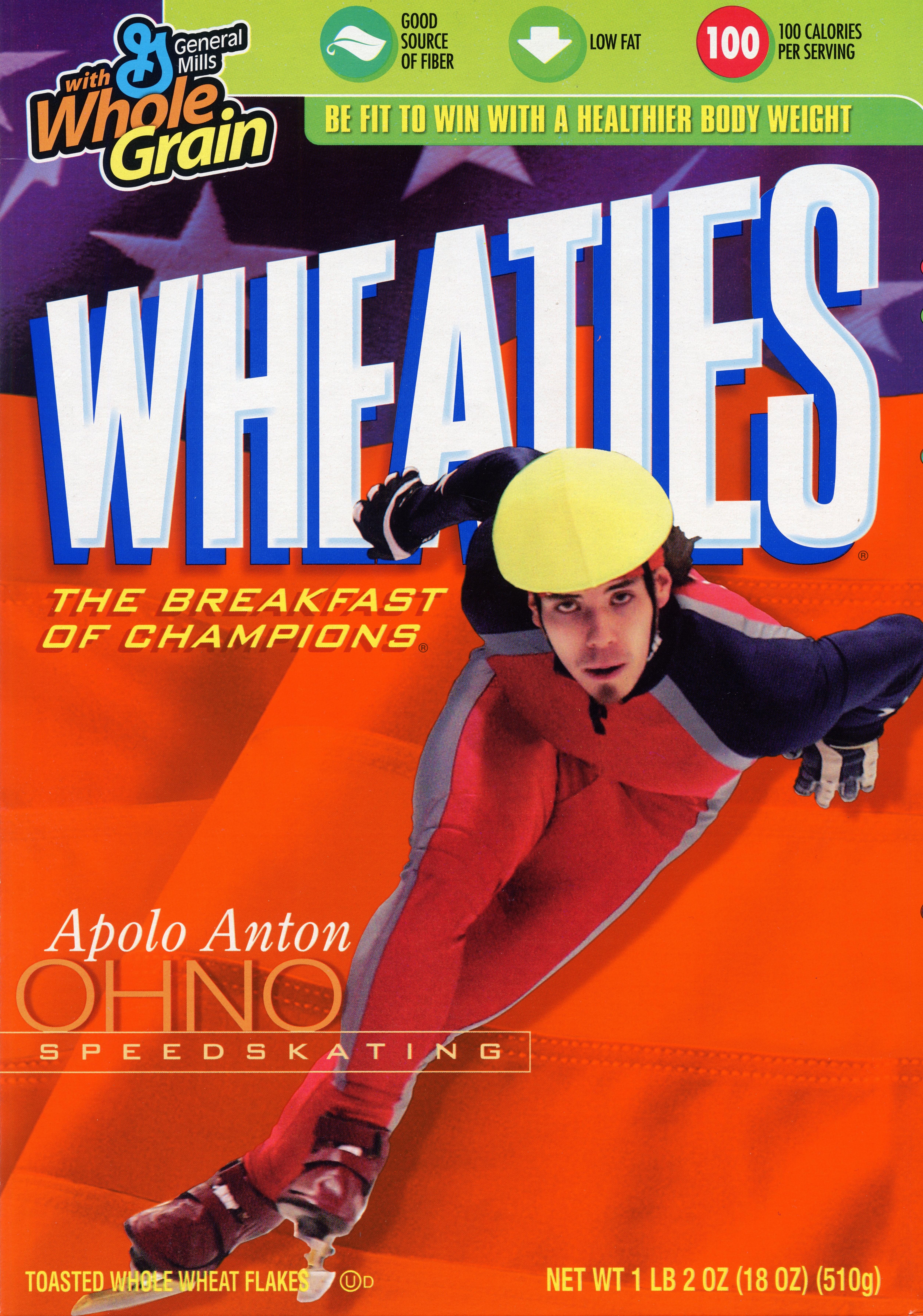 Apolo Anton Ohno on the Wheaties box.