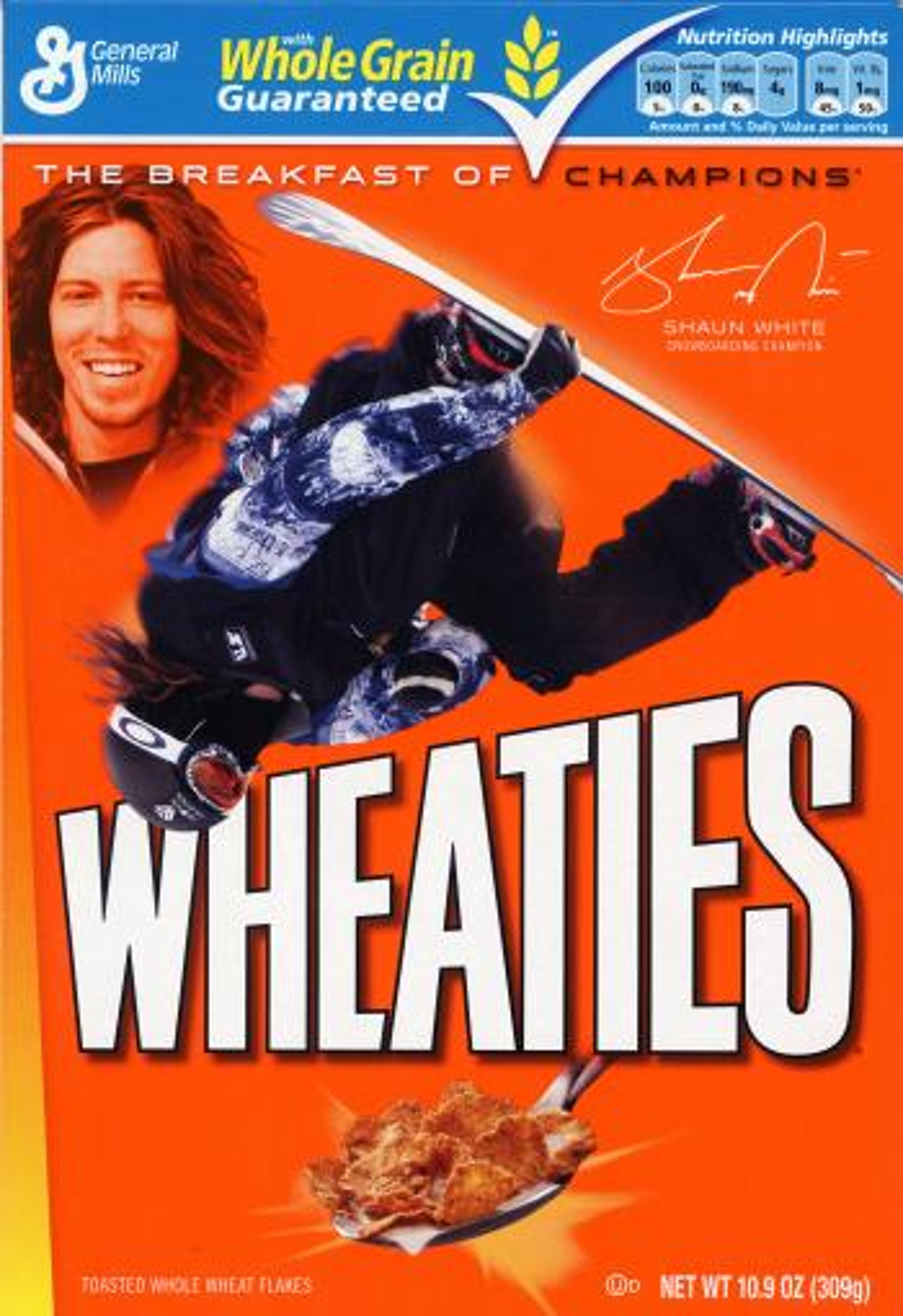 Shaun White on the Wheaties box.