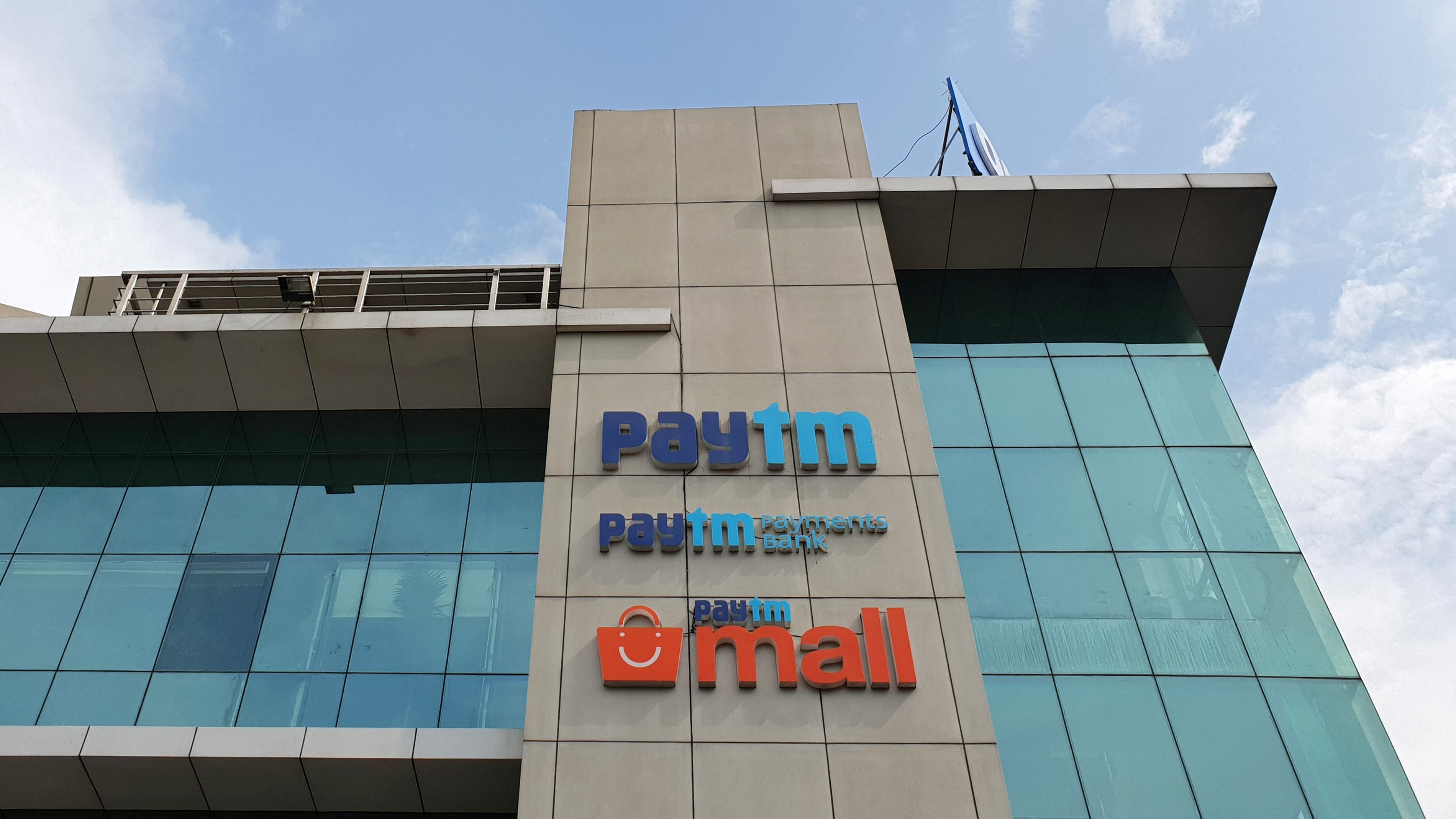 The headquarters for Paytm, India's leading digital payments firm, is pictured in Noida