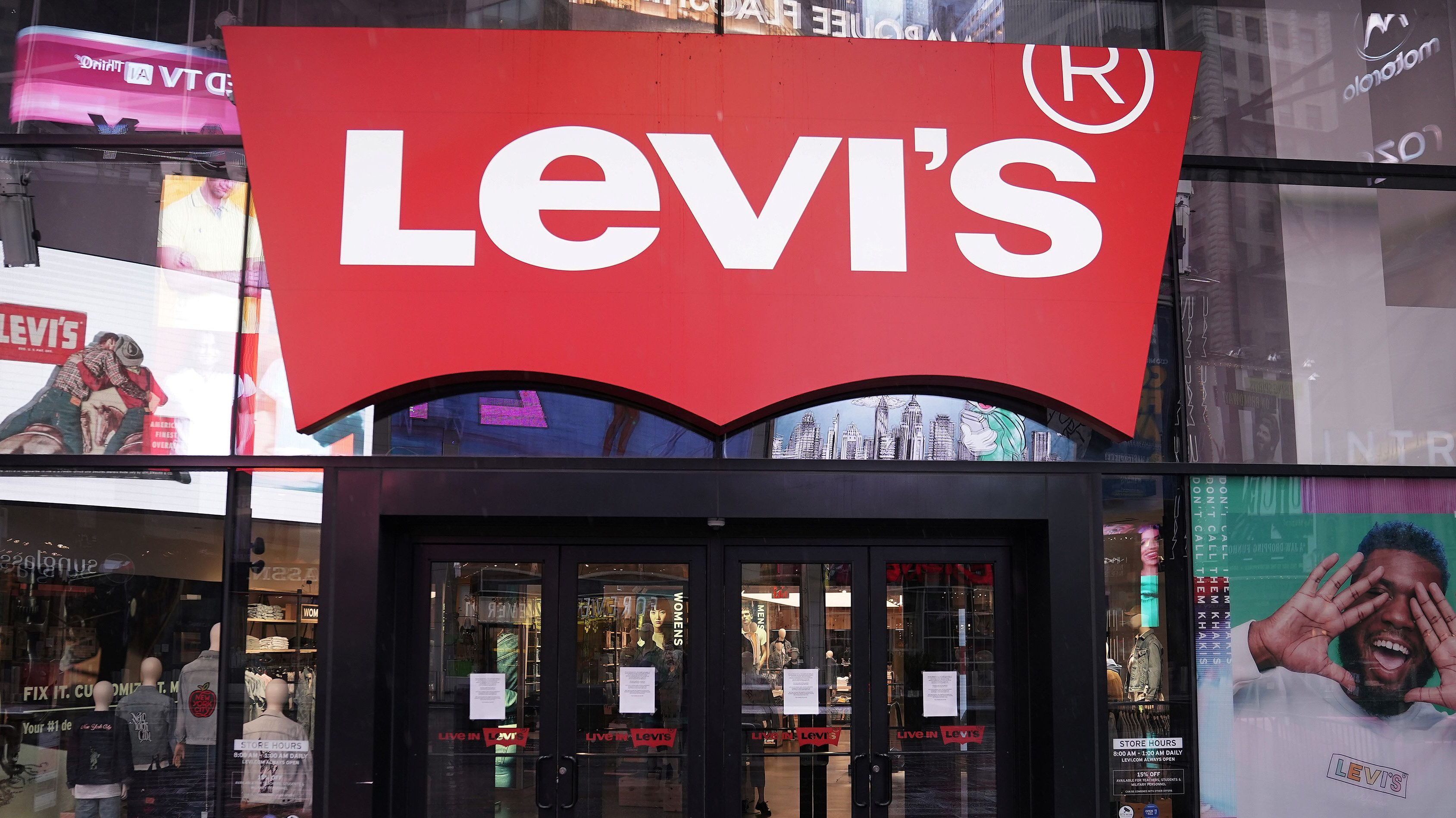 A Levi's store in New York