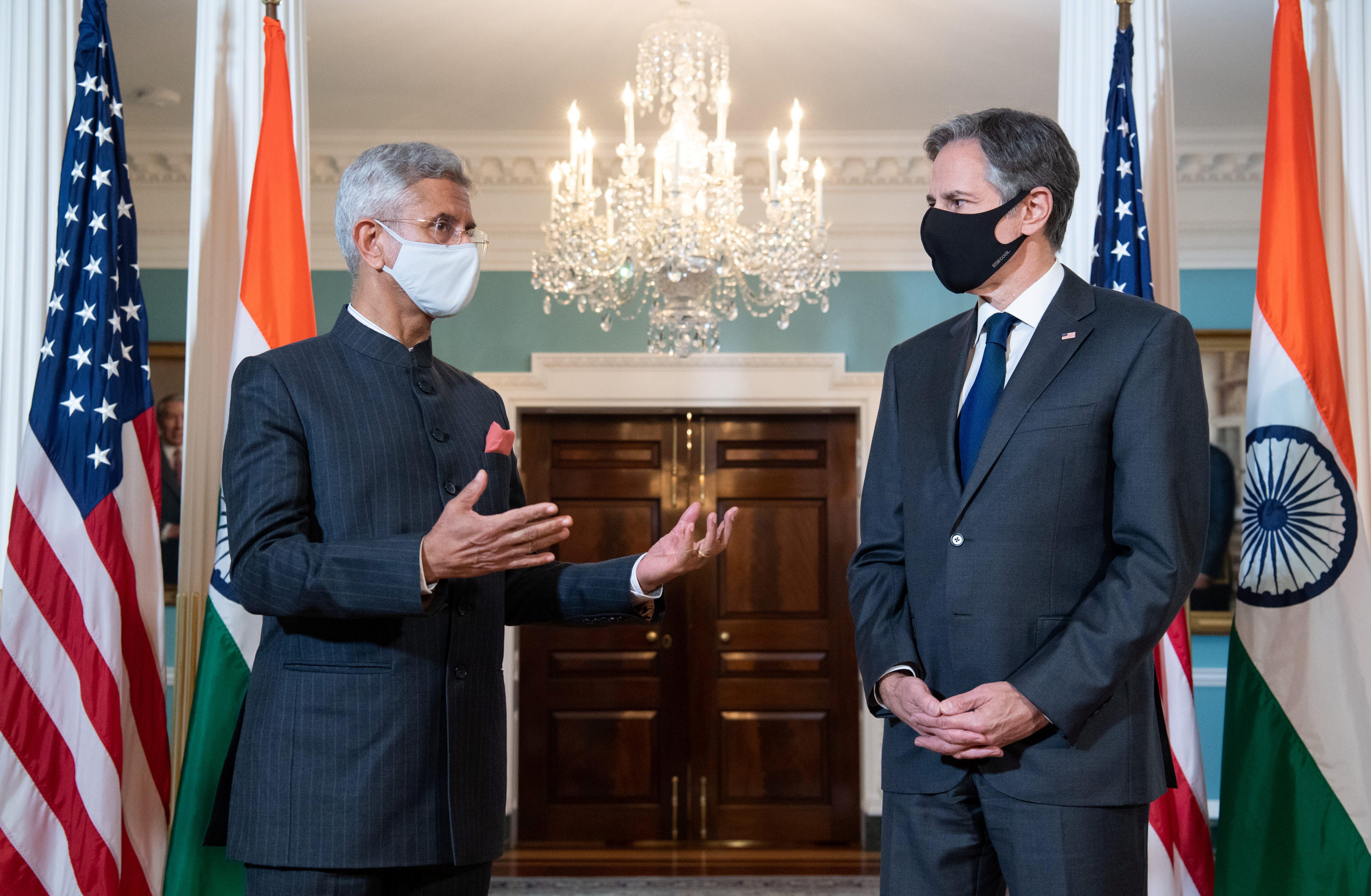 U.S. Secretary of State Blinken meets with India's External Affairs Minister Jaishankar