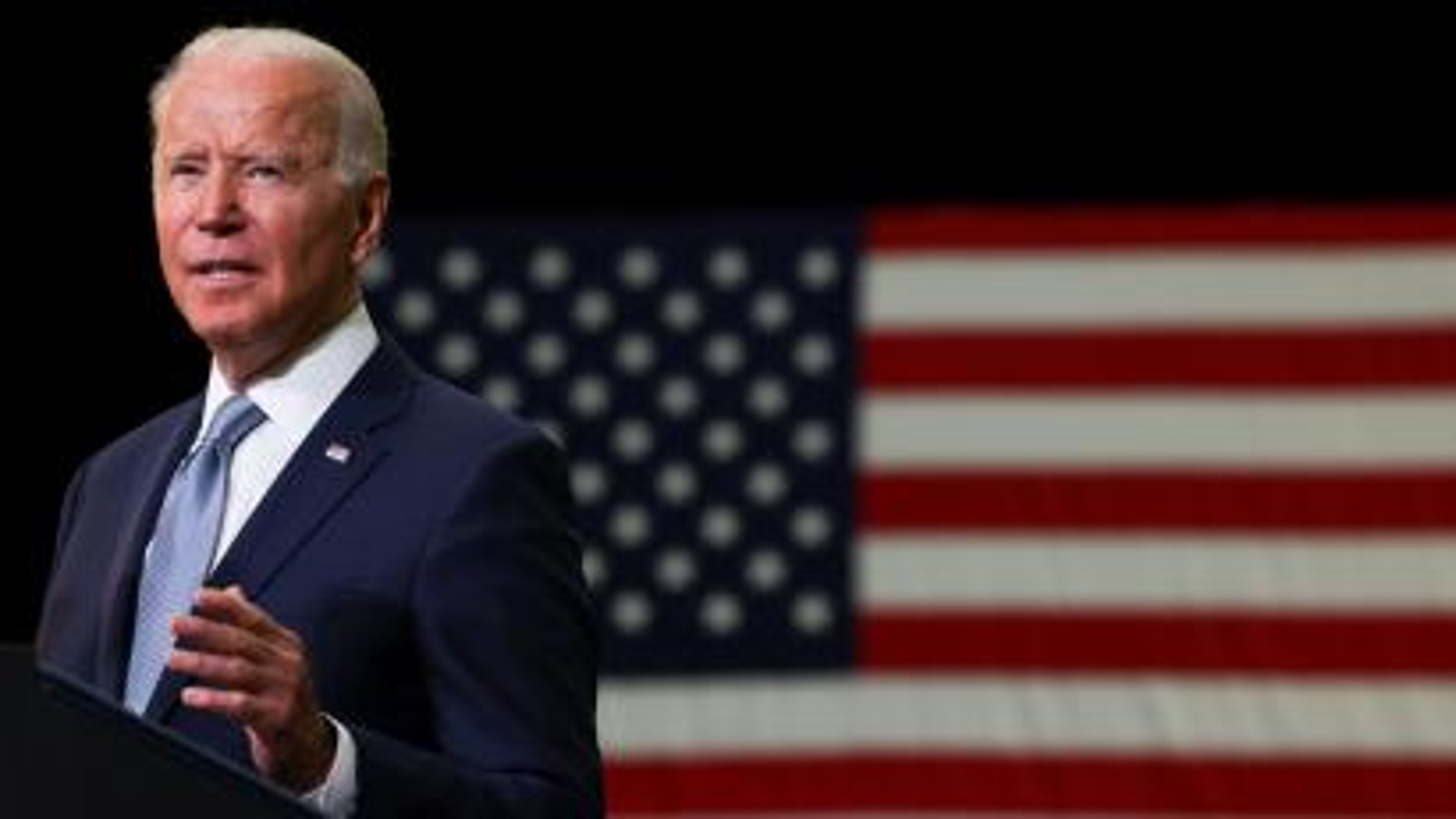 U.S. President Joe Biden visits McHenry County College, in Crystal Lake