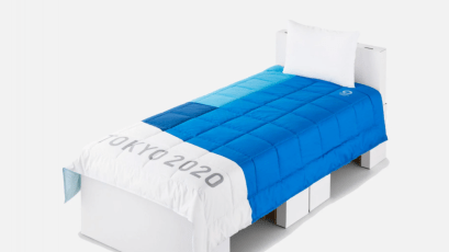 Airweave beds designed for the Olympic Village
