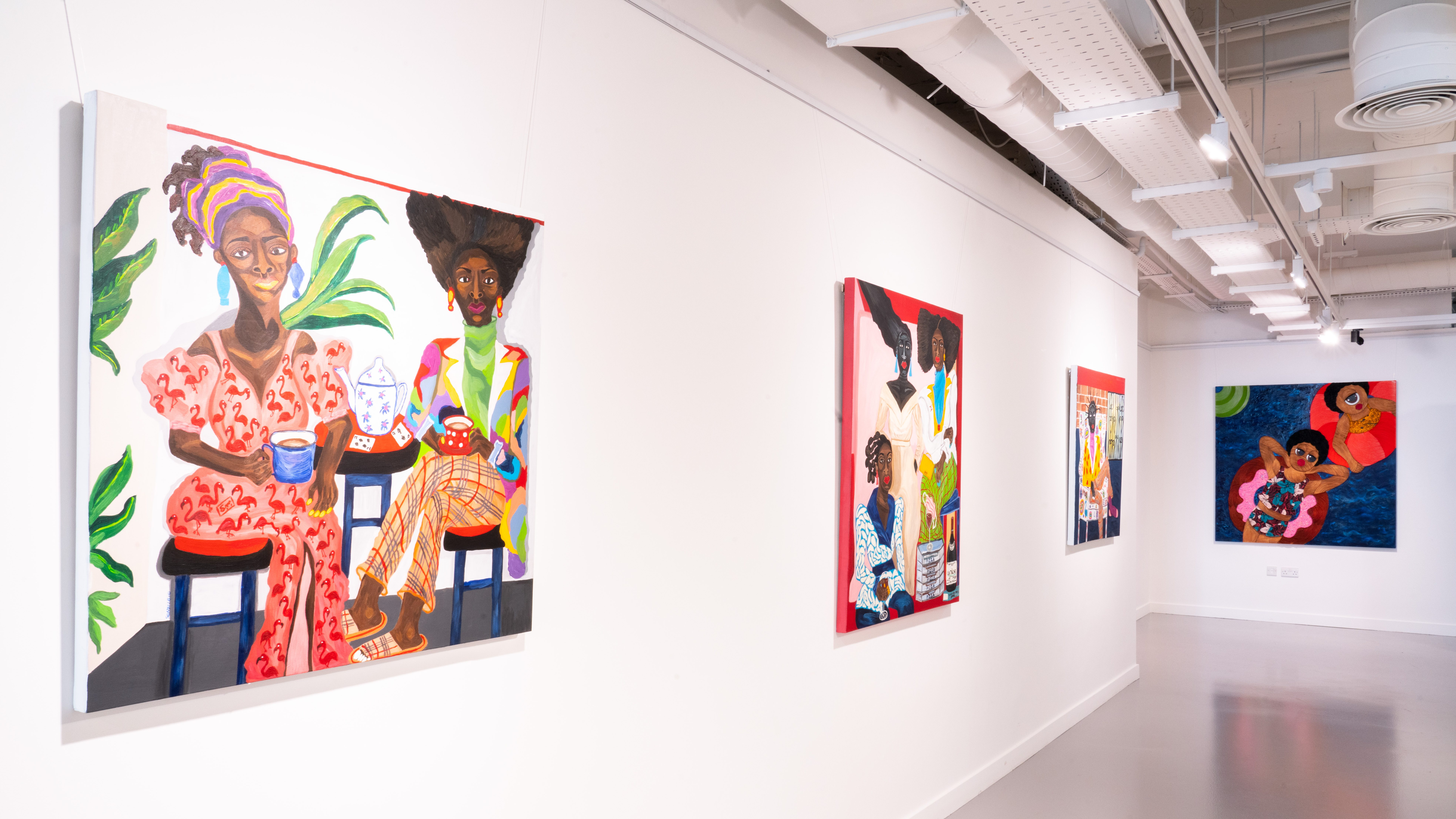 """""""Mother of Mankind"""" features 16 artists and is curated by Ghanaian-British gallerist Adora Mba, founder of recently opened ADA \ Contemporary Art Gallery in Accra."""