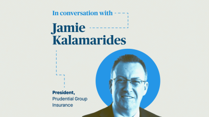 Zach Seward in conversation with Jamie Kalamarides, President of Prudential Group Insurance