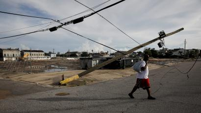 The electric grid in New Orleans was devastated by Hurricane Ida.