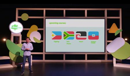 Dr. Luis van Ahn presents on the new languages being added to Duolingo.