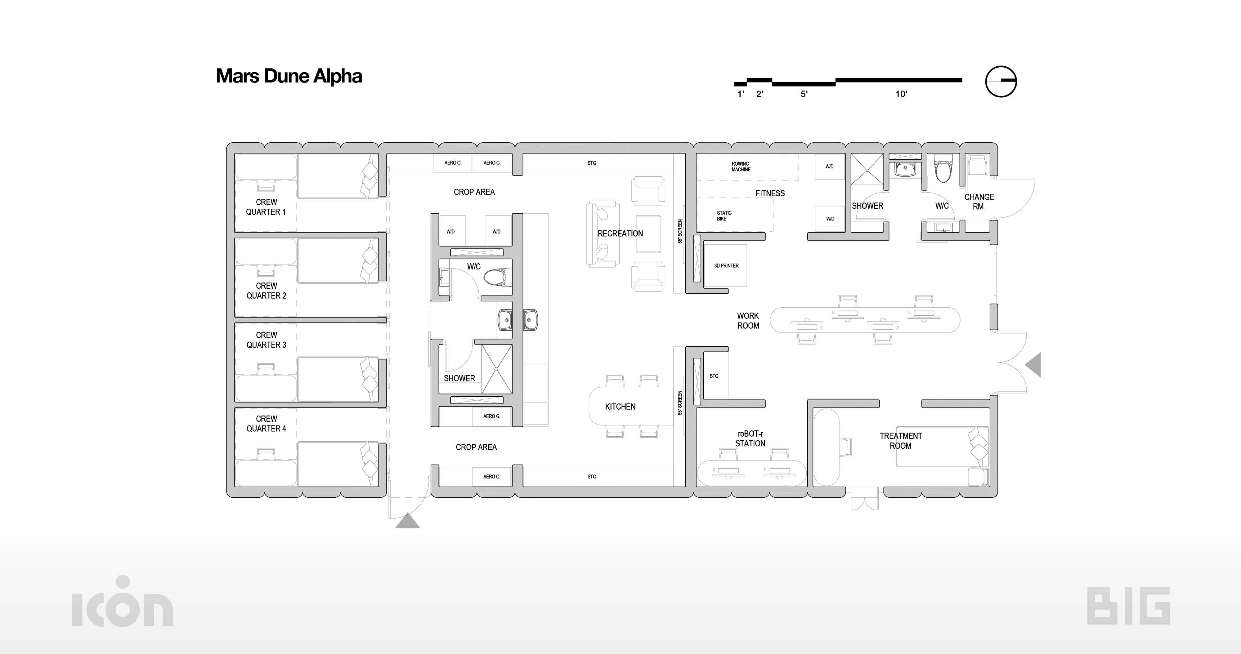 Floorplan of Mars Dune Alpha