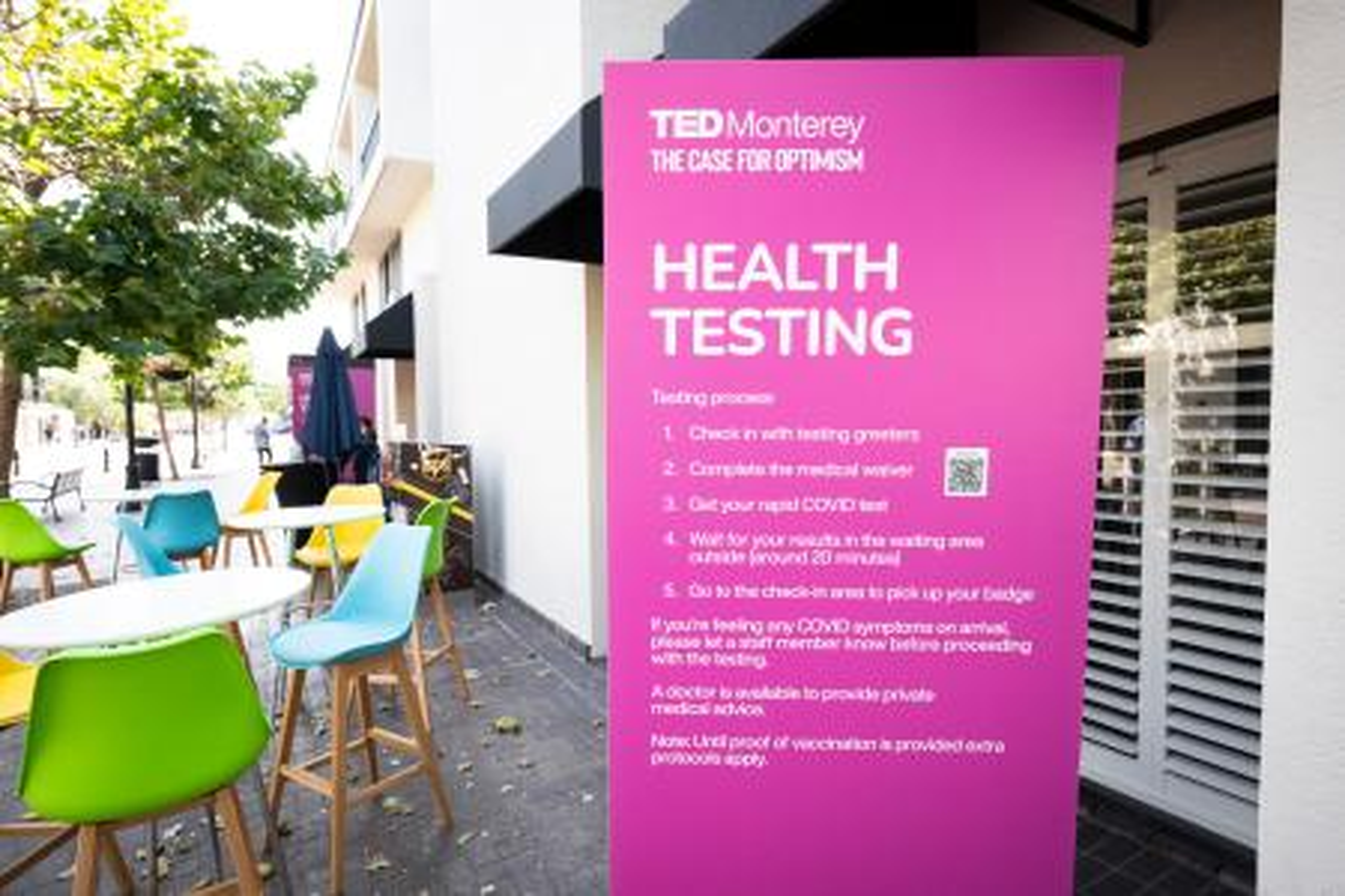 The health testing area