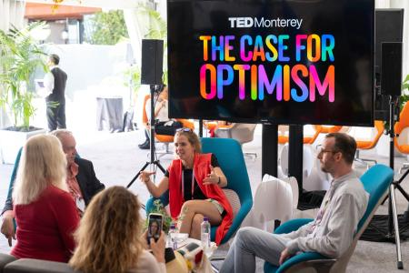 Community Lunch at TEDMonterey: The Case for Optimism. August 1-4, 2021, Monterey, California. Photo: Bret Hartman / TED