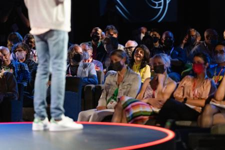The audience at TED