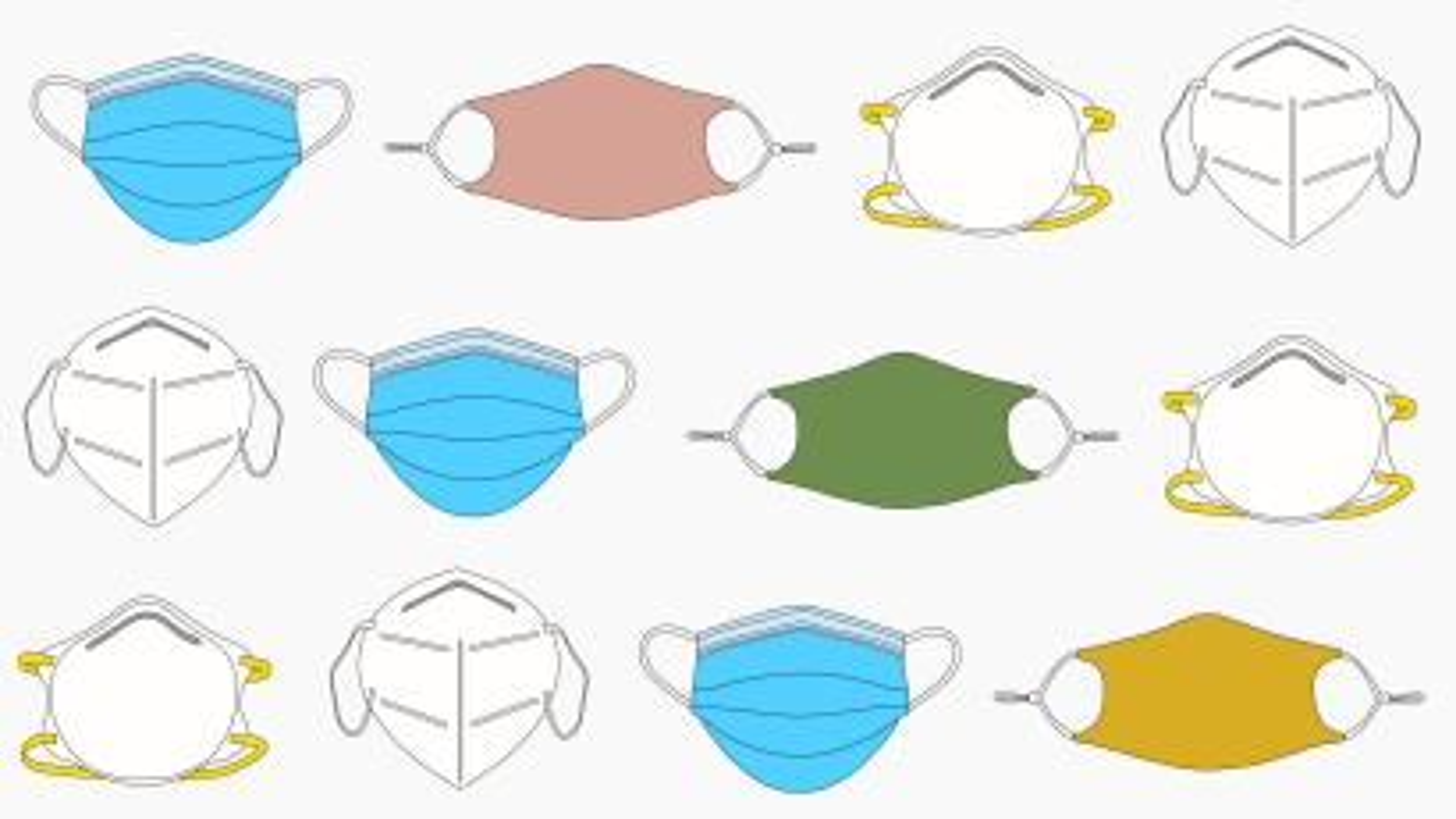 Illustrations of masks.