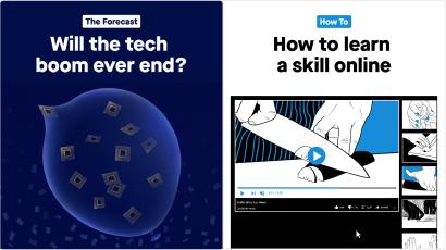 """These are examples of the lead images for two of Quartz's new email offerings, """"The Forecast"""" and """"How To""""."""