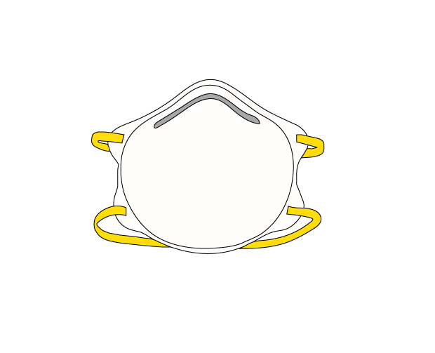 An illustration of a N95 mask.