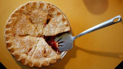 An image of a cherry pie