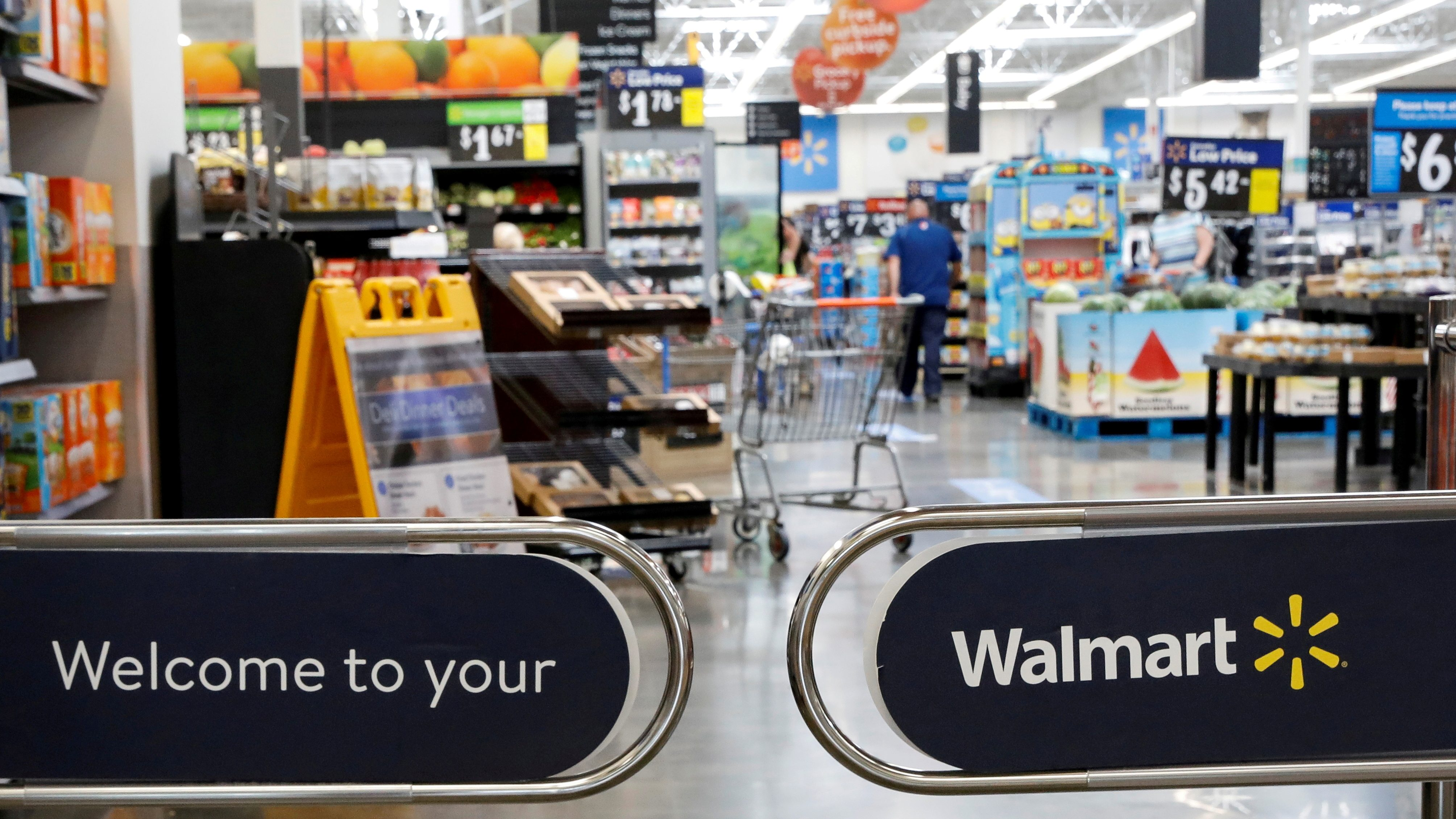 Entrance to a Walmart store.