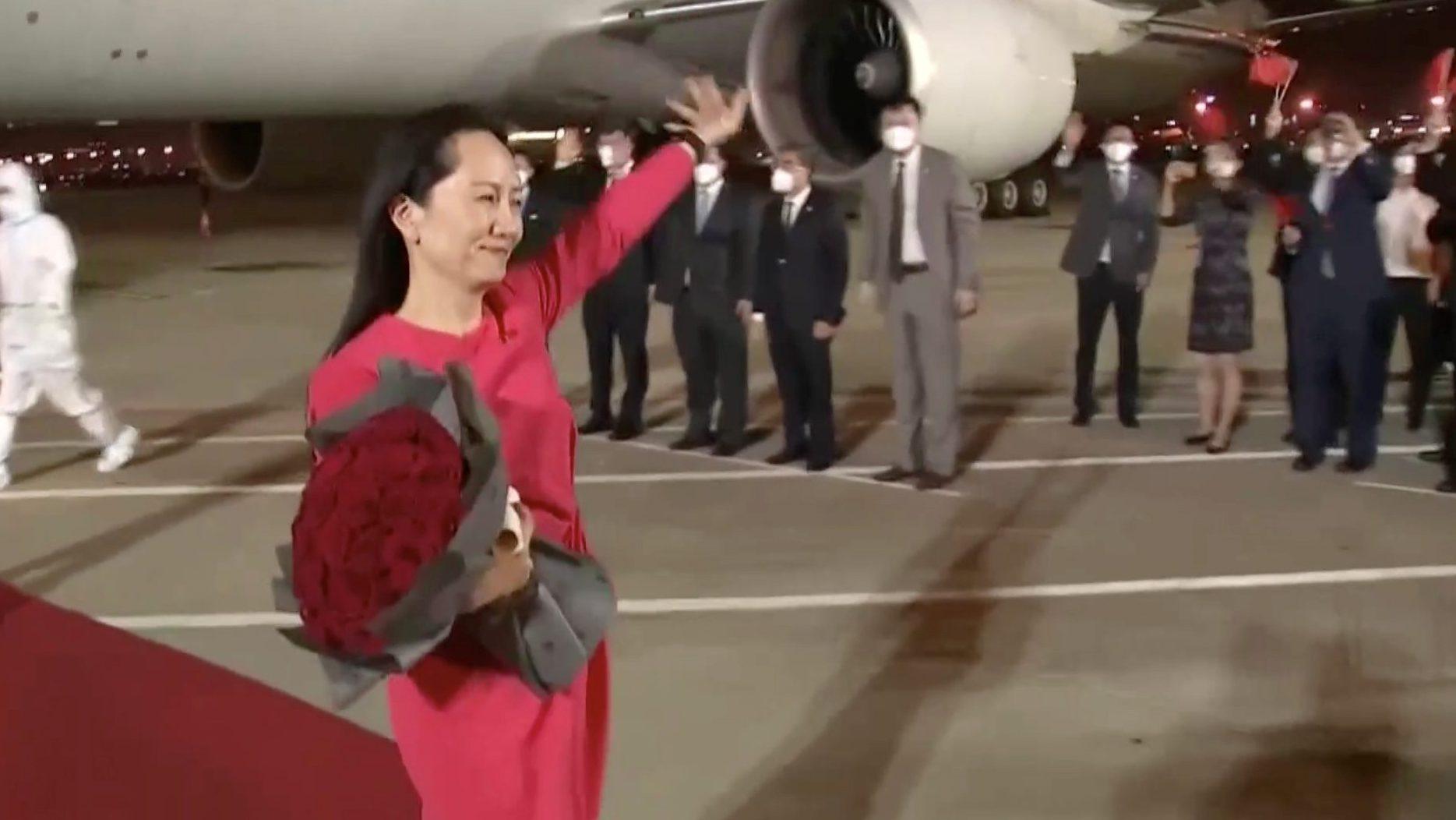 Huawei CFO Meng Wanzhou arrives in Shenzhen