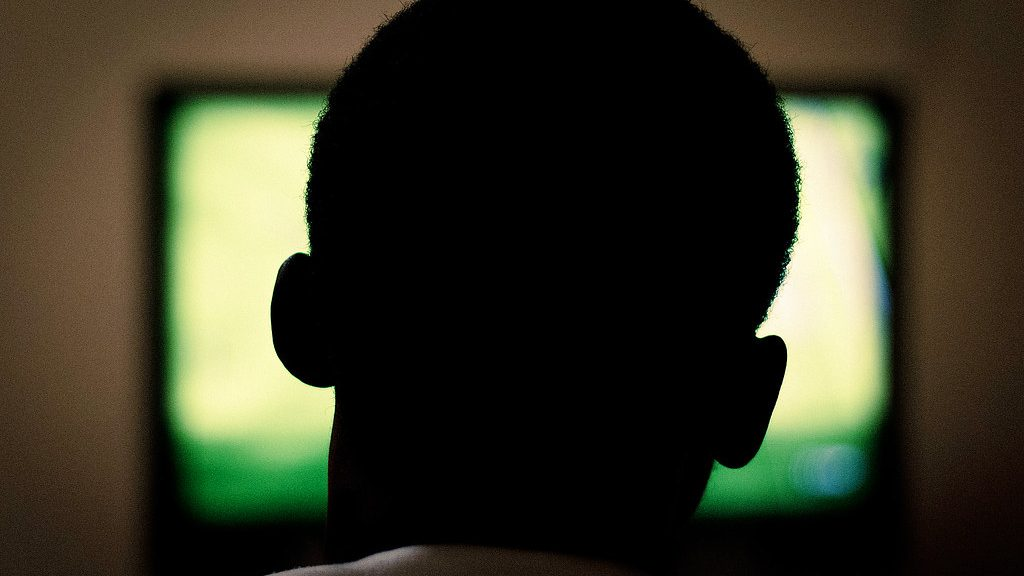 A man watches television. US electric utilities are borrowing a new business model from Netflix and other subscription services.
