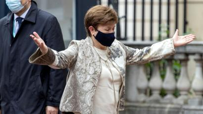 Kristalina Georgieva, the IMF managing director who now faces scrutiny over her time as CEO of the World Bank.