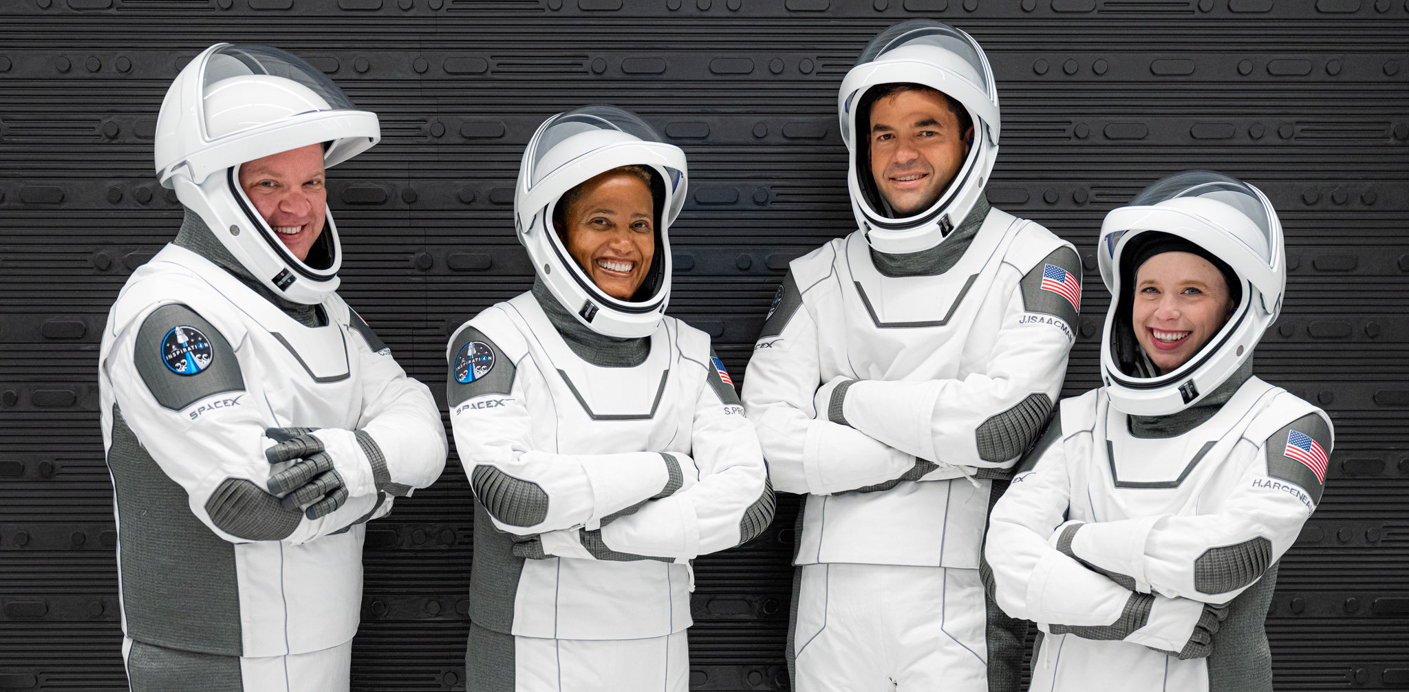 The four Inspiration4 crew members are ready for lift-off.