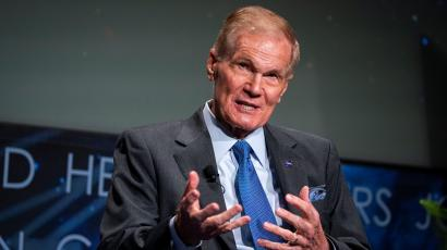 """NASA Administrator Bill Nelson speaks during a """"State of NASA"""" address"""