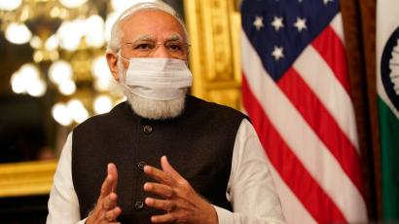 Indian prime minister Narendra Modi in Washington DC during his meeting with VP Kamala Harris.
