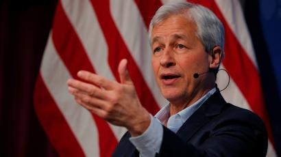 Dimon, CEO of JPMorgan Chase, speaks about investing in Detroit during a panel discussion at the Kennedy School of Government at Harvard University in Cambridge