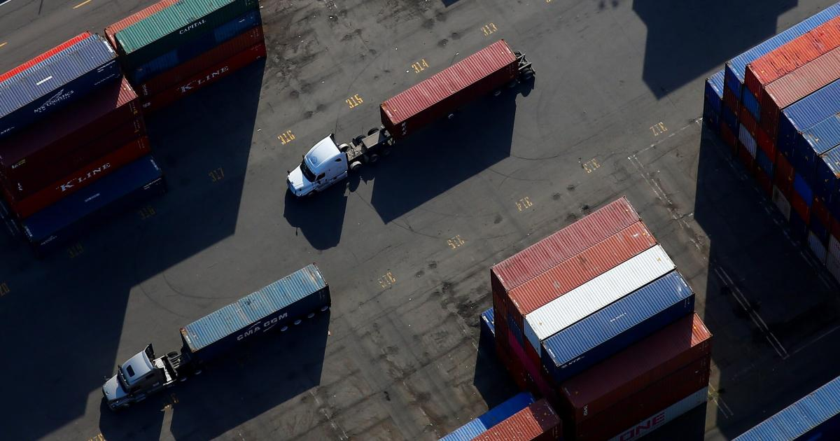 Unloading container ships faster in the US is pushing supply chain woes onto trucks