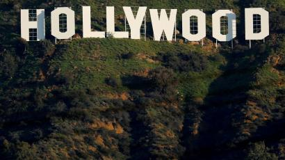 The iconic Hollywood sign is shown on a hillside above a neighborhood in Los Angeles California, U.S., February 1, 2019.