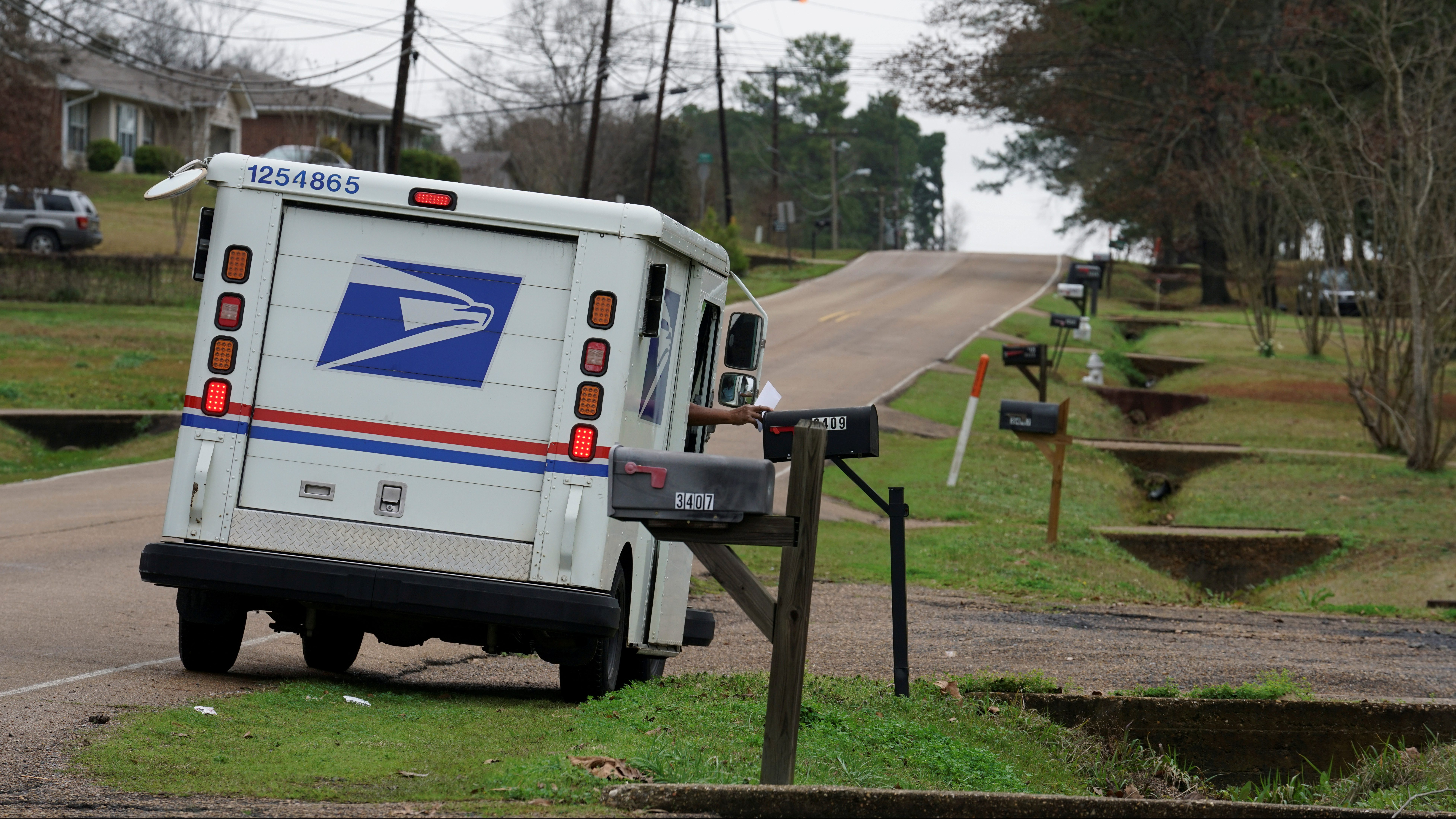 A mail carrier delivers the mail in Pearl, Mississippi, U.S. January 15, 2020. Picture taken January 15, 2020.