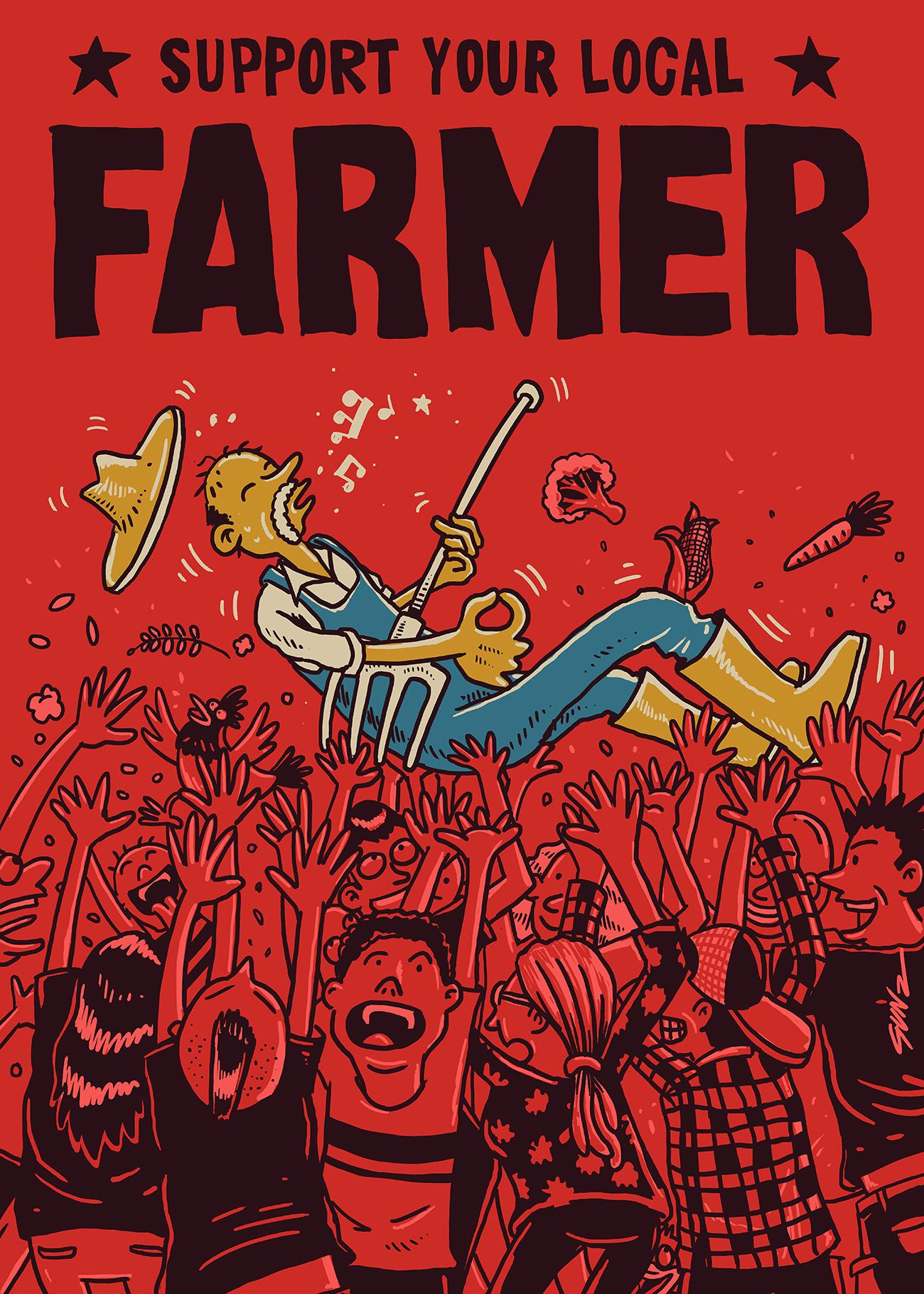 Support your local farmer by Gandhi Eka
