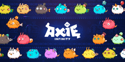 A picture of several multi-colored monsters from the blockchain game, Axie Infinity