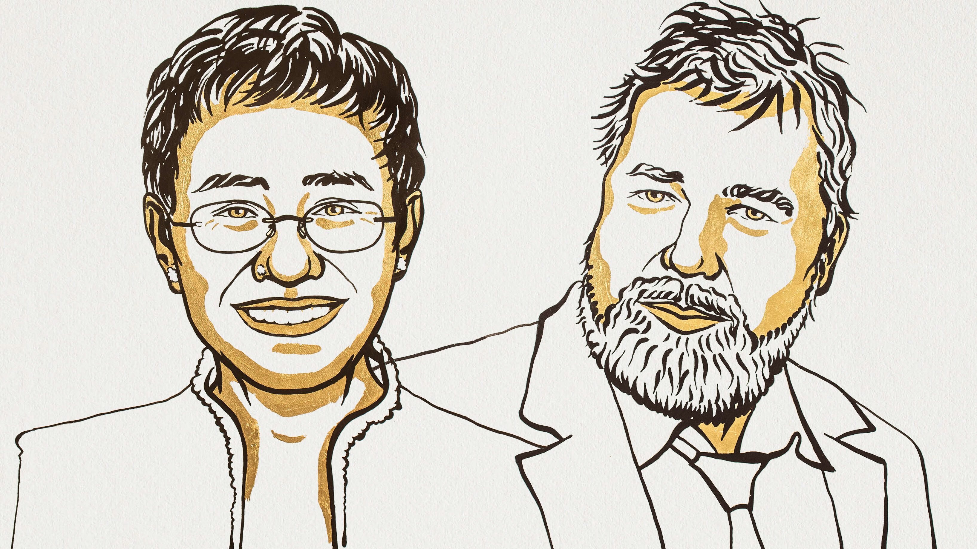 Maria Ressa and Dmitry Muratov, winners of the 2021 Nobel Peace Prize